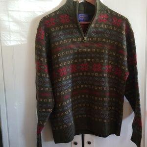 Pendleton virgin wool pullover large